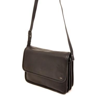 Berba Soft Flap Bag Large Black