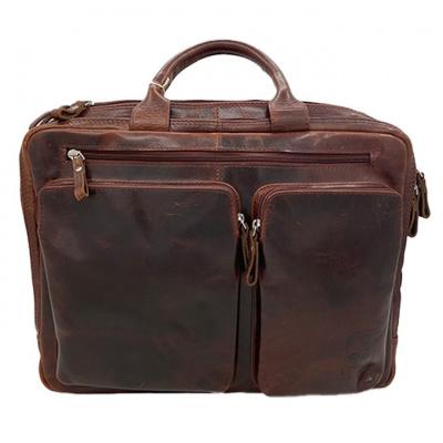 Foto van Old School Business bag Arpello 6.0362 Brandy