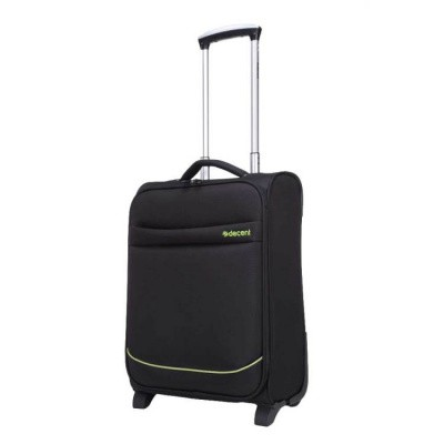 Foto van Handbagage koffer Decent Super-Light Trolley 50 donker Zwart