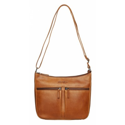 DSTRCT Wax Lane Crossbody Cognac