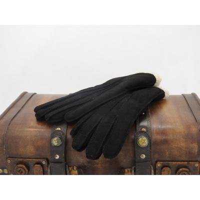 Foto van Leren dameshandschoen van Glove Story met polyester voering Zwart