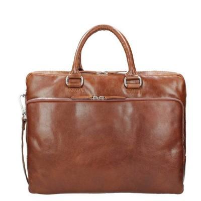 Briefcase Leonhard Heyden Cambridge Cognac