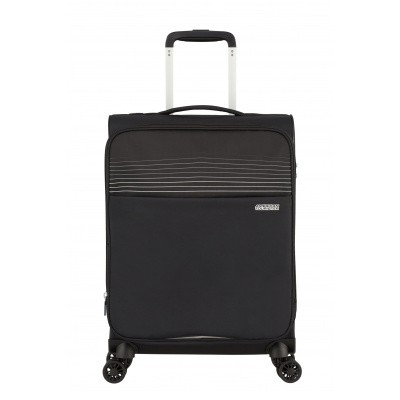 American Tourister Lite Ray Spinner 55 EXP Jet Black