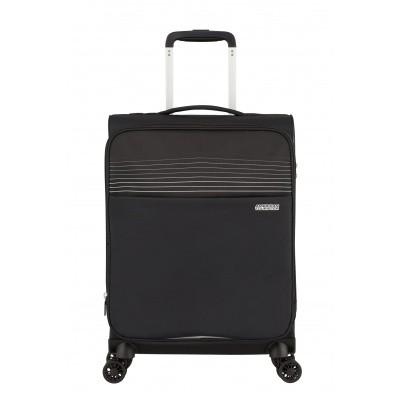 Handbagage American Tourister Lite Ray Spinner 55 Expandable jet black