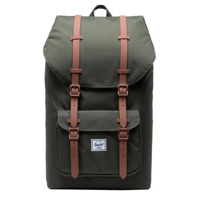 Foto van Rugtas Herschel Little America Dark Olive/Saddie Brown