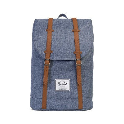 Foto van Herschel Retreat Dark Chambray Crosshatch