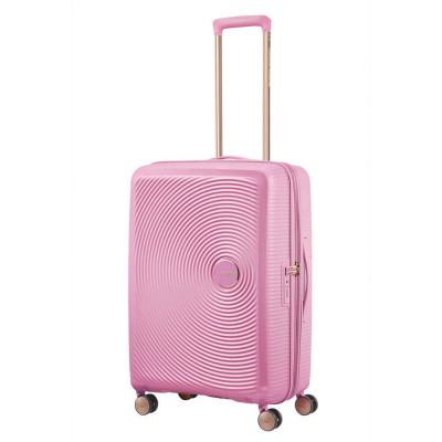 Foto van American Tourister Spinner 67 Soundbox Pearl Pink/Gold