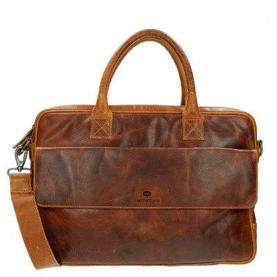 Foto van MicMacBags Colorado Laptoptas 15,6 inch 16188 Cognac