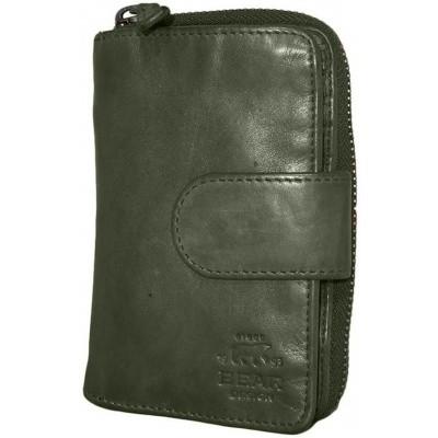 Dames Portemonnee Bear Design Olijf groen CL13550