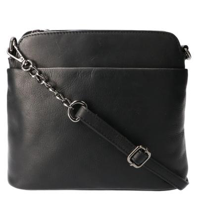 Schoudertas Leather Design HB 108 Zwart