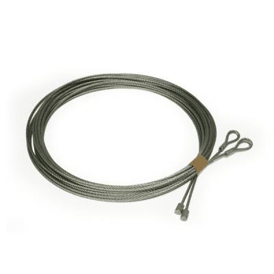 Staalkabel 4 mm incl. eindklemmen (p/m)