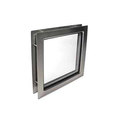 Venster vierkant 310 x 310 RVS (helder glas)