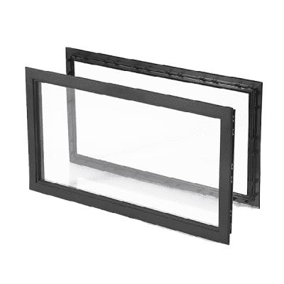 Foto van Venster rechthoekig zwart (680 x 373 mm)
