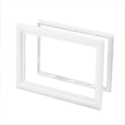 Foto van Venster rechthoekig wit/houtnerf (494 x 330 mm)