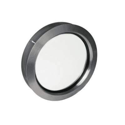 Venster rond 330mm RVS (helder glas)