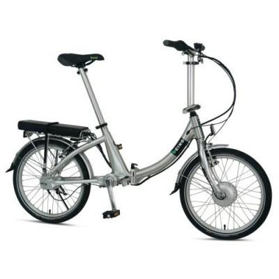 Beixo vouw compact e-bike, zilver
