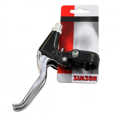 Foto van Simson remgreepset finger grip aluminium zwart