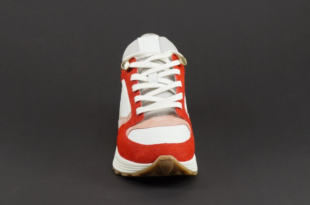sneakers dames wit rood