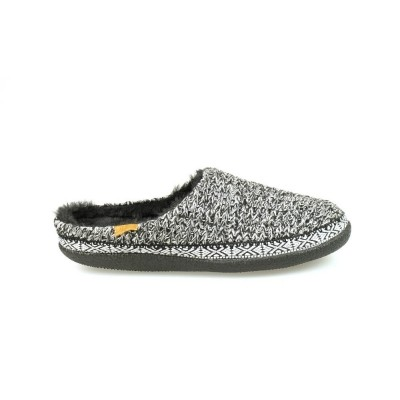 Foto van TOMS SWEATER KNIT IVY SLIPPER BLACK/WHITE - PANTOFFEL