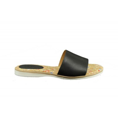 ROLLIE DAMES SLIPPERS ZWART SLIDE