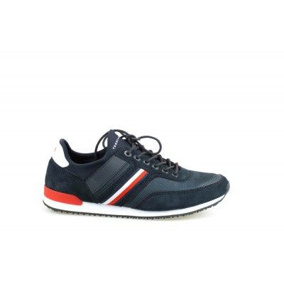 Foto van TOMMY HILFIGER HEREN SNEAKERS BLAUW ICONIC SOCK RUNNER