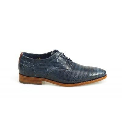 REHAB HEREN VETERSCHOENEN BLAUW BRAD SNAKE STRIPES