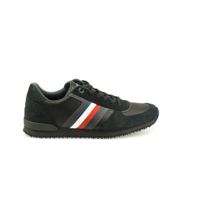 Foto van TOMMY HILFIGER HEREN SNEAKERS ZWART ICONIC MIX RUNNER