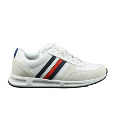 TOMMY HILFIGER HEREN SNEAKERS WIT MODERN RUNNER