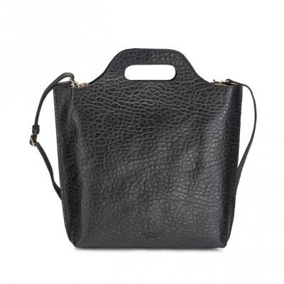 Foto van MYOMY MY CARRY BAG SHOPPER MEDIUM BUBBLE BLACK - TAS