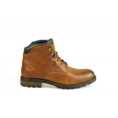 TOMMY HILFIGER HEREN HALFHOGE VETERSCHOENEN BRUIN WINTER TEXTURED BOOT
