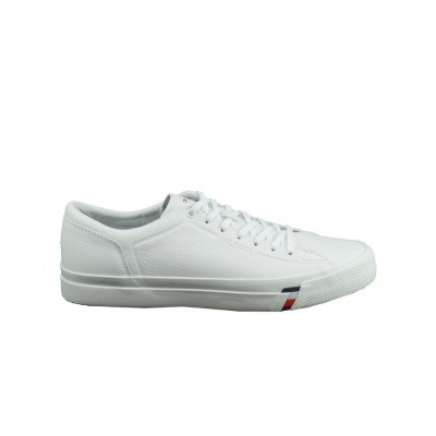 TOMMY HILFIGER HEREN SNEAKERS WIT CORPORATE LEATHER