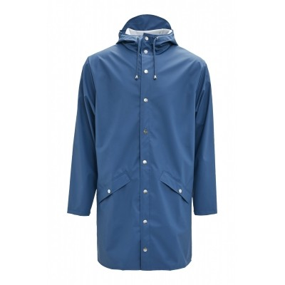 RAINS LONG JACKET FADED BLUE - REGENJAS
