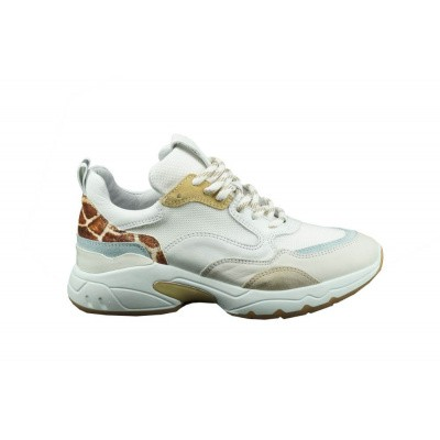 VIA VAI DAMES SNEAKERS WIT/BEIGE ZAIRA