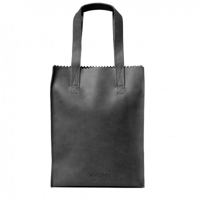 MYOMY MY PAPER BAG LONG HANDLE OFF BLACK - TAS