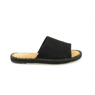 TOMS CLARITA BLACK SUEDE - SLIPPER