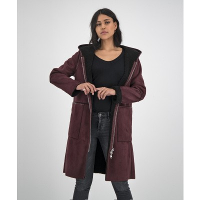 Foto van GOOSECRAFT DAMES JAS ROOD ADELYN COAT