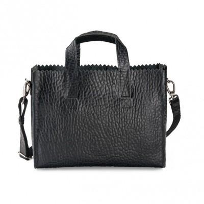 Foto van MYOMY MY PAPER BAG HANDBAG CROSS-BODY BUBBLE BLACK - TAS