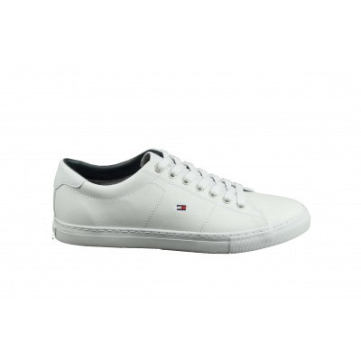 TOMMY HILFIGER HEREN SNEAKERS WIT ESSENTIAL LEATHER