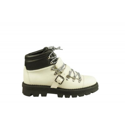 TORAL DAMES HALFHOGE VETERSCHOENEN OFF-WHITE 12008