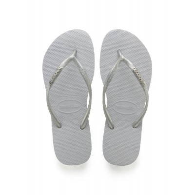 HAVAIANAS SLIM LOGO METALLIC GREY - SLIPPER