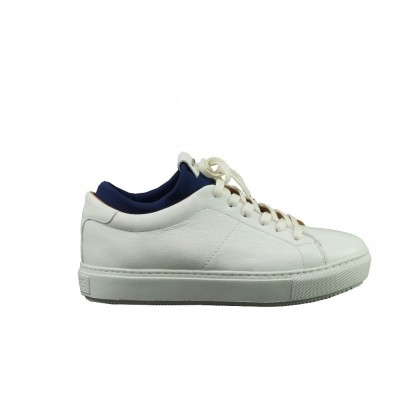 Foto van SHABBIES 101020012 WHITE DARK BLUE - SNEAKER