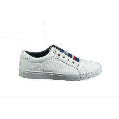 Foto van TOMMY HILFIGER DAMES SNEAKERS WIT ELASTIC CITY