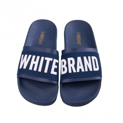 Foto van THE WHITE BRAND ELASTIC MINIMAL NAVY - SLIPPER