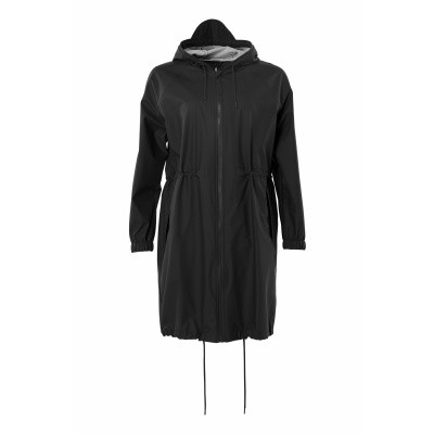 Foto van RAINS REGENJAS ZWART LONG W JACKET
