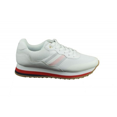 TOMMY HILFIGER DAMES SNEAKERS WIT CORPORATE RETRO