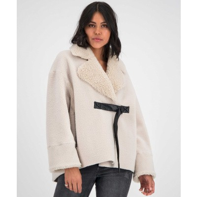 GOOSECRAFT DAMES BONTJAS OFF-WHITE MACY COAT