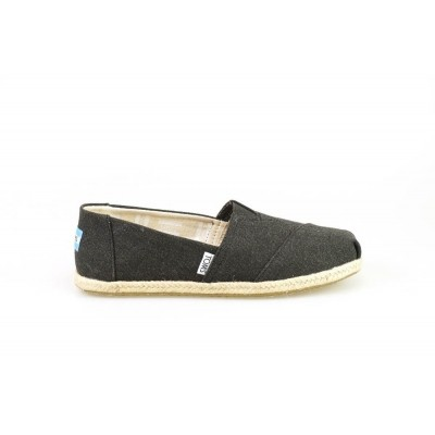 TOMS ALPARGATA BLACK WASHED - ESPRADILLE