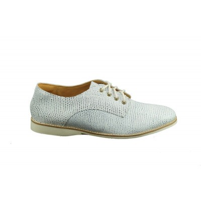 ROLLIE DAMES VETERSCHOENEN BLAUW/WIT DERBY PUNCH