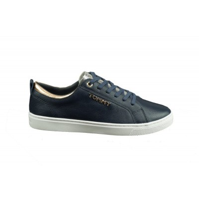 TOMMY HILFIGER DAMES SNEAKERS DONKERBLAUW CITY SNEAKER