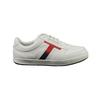 Foto van TOMMY HILFIGER RETRO CORPORATE SNEAKER WHITE - SNEAKER